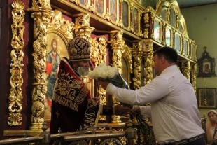 Приняли участие в богослужении посвященном памяти мученической смерти Иоанна Предтечи