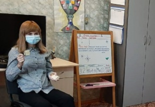 Е.В. Капитанова провела занятие на тему: психологическая игра «Наши чувства»